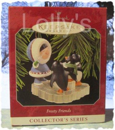 Hallmark Keepsake Christmas Ornament Frosty Friends 1998 Eskimo Penguin Carolers #19 GB ~*~