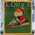 Hallmark Keepsake Christmas Ornament Snowmobile Santa 1984 Top Hat & Scarf GB ~*~