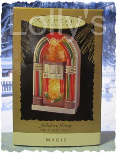 Hallmark Keepsake Christmas Ornament Jukebox Party 1996 Light & MusicGB ~*~