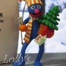 Jim Henson Christmas Ornament Sesame Street Muppets 1993 Grover Monster With Tree  ~*~