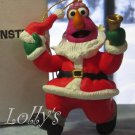 Jim Henson Christmas Ornament Sesame Street Muppets 1993 Telly Monster Santa Bell Ringer ~*~