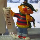 "Jim Henson Christmas Ornament Sesame Street Muppets 1992 Ernie Checking the ""Nice"" List ~*~"