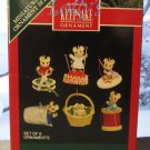 Hallmark MINIATURE Keepsake Christmas Ornament Set 1992 Sew Sew Tiny Mouse Mice GB ~*~v