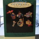 Hallmark MINIATURE Keepsake Christmas Ornament Set 1993 Tiny Green Thumbs Mouse Mice GB ~*~v
