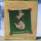 Hallmark MINIATURE Keepsake Christmas Ornament Afternoon Tea Pot 2005 Teapot #3 VGB ~*~