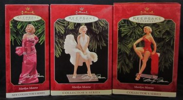 3 Hallmark Keepsake Christmas Ornaments LOT Marilyn Monroe Complete Set of 3 1997 1998 1999 ~*~