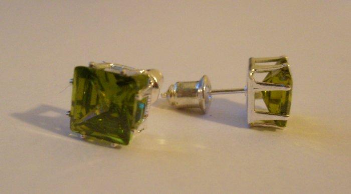 Emerald Green CZ Studs
