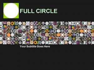 Circles Circles and more Circles