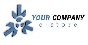 Blue theme E-store logo #993