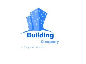 Blue building logo #1025
