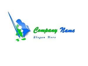 Green and blue artist logo #1029