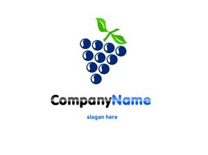 Purple and blue grapes logo #1034
