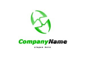 Green and black dbl shovel logo #1039