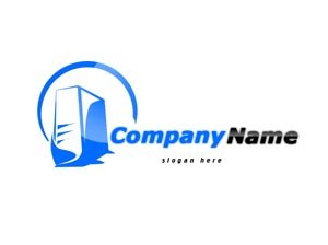 Blue computer logo #1040