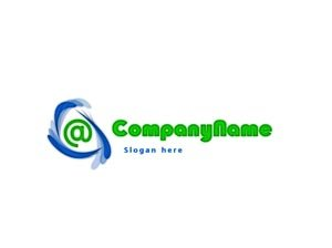 Online store logo green and blue #1043