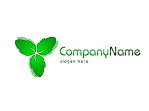 Green leaf logo #1049