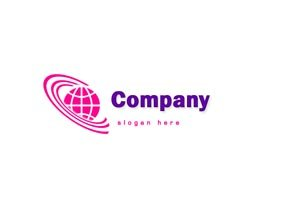 Pink and purple globe logo #1060