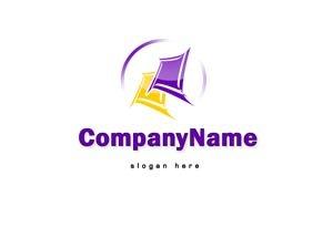 Purple and yellow logo #1061