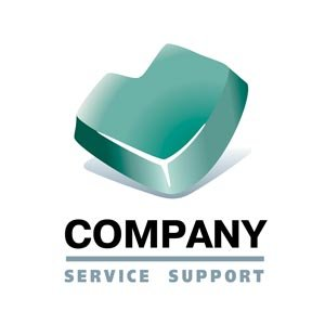 Teal Service Company Logo #1194
