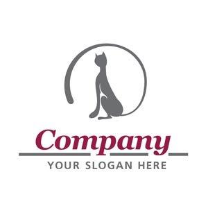 Pet logo grey and maroon #1200