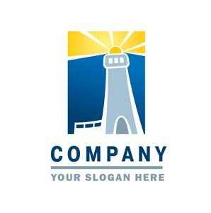 Lighthouse blue and yellow logo #1201