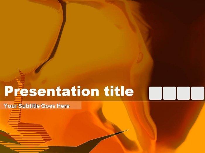 PowerPoint orange abstract theme_002