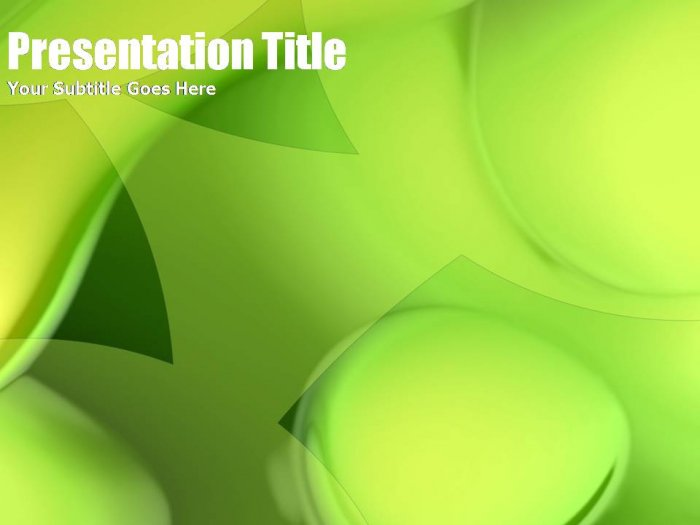PowerPoint green abstract theme_007