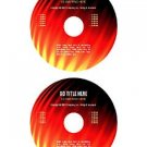 """Flames"" cd/dvd label template"