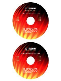 """""""Flames"""" cd/dvd label template"""