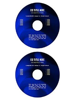 Blue marble cd/dvd label template