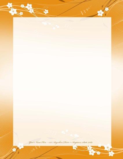 Orange flower letterhead 008