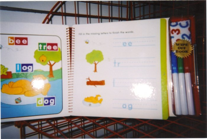 learn phonics wipe off book