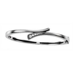 NEW 14K White Gold Journey Diamond Bracelet