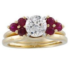 14K Yellow Gold Bridal Enhancer Genuine Ruby Brand New