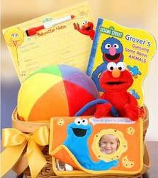 Sesame Street Friends For Baby Gift Basket