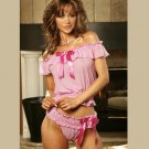 POLKA DOT CAMI with PANTIES SIZES: S-M-L #DL1247  Women's Lingerie