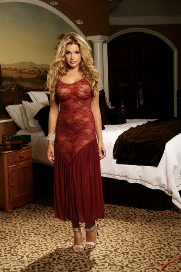 Burgandy Lace GOWN  SIZES: S-M-L-XL # 1043  Women'sLingerie