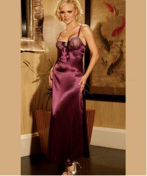 CHARMEUSE GOWN  SIZES: S-M-L  #DL1040 Women's Lingerie