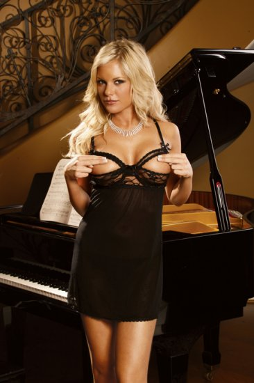 Cupless Lace and Mesh BABYDOLL with G-STRING SIZES: S-M-L #DL1146