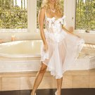 Sexy Sheer and Satin Cupless GOWN with G-STRING PLUS SIZES: 1X-2X-3X  #DL1022 Women's Lingerie