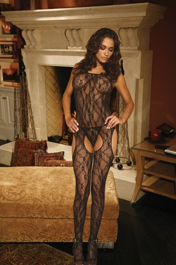 Lace BODYSTOCKING with Open Crotch #DLG2109