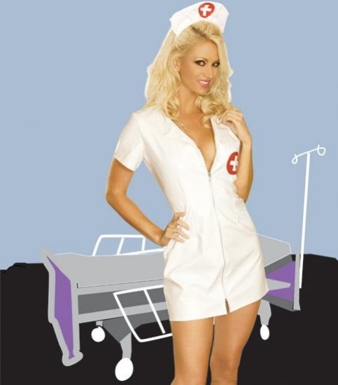 Naughty Nurse COSTUME for Women #DLB5203  Plus Size