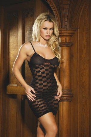 Checkered Mesh MINIDRESS #DLG2053  Women'sLingerie