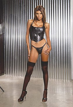 Halter LEATHER CORSET #DLL3076