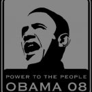 Barack Obama, Power To The People, T-shirt, BlK,W FW