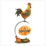 Rural Rooster Welcome Sign