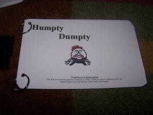 Humpty Dumpty Book autism pecs speech delay prek