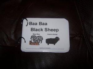 Baa Baa Black Sheep autism pecs speech prek