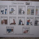 Clean Kitchen Job Board adapted for autism pecs pre k