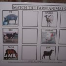 Farm Animal and My Pets match board autism pecs pre k